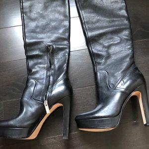 Michael Kors knee high platform boots